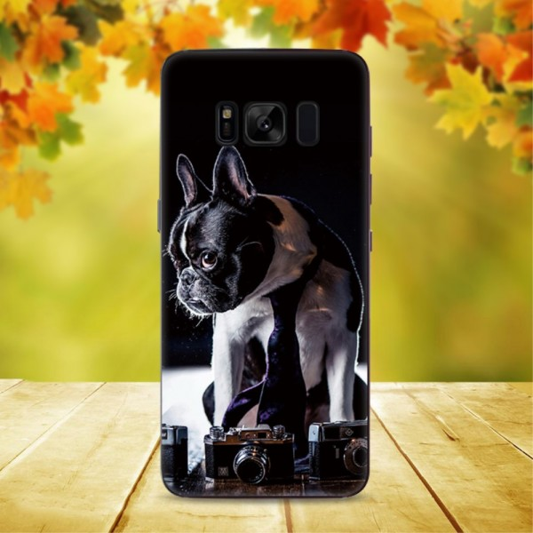 Galaxy S8+ PLUS - Transparente Silikon Gummi Hülle Retriever Hund