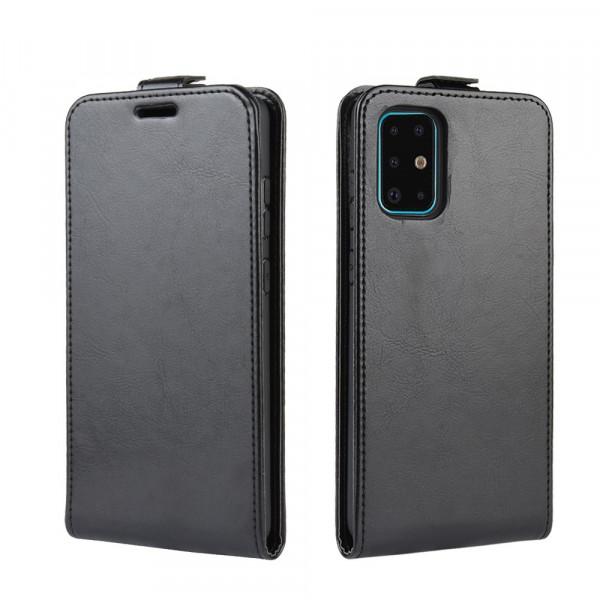 Galaxy S20+ Plus - Klassisches Leder Flip Case vertikal schwarz