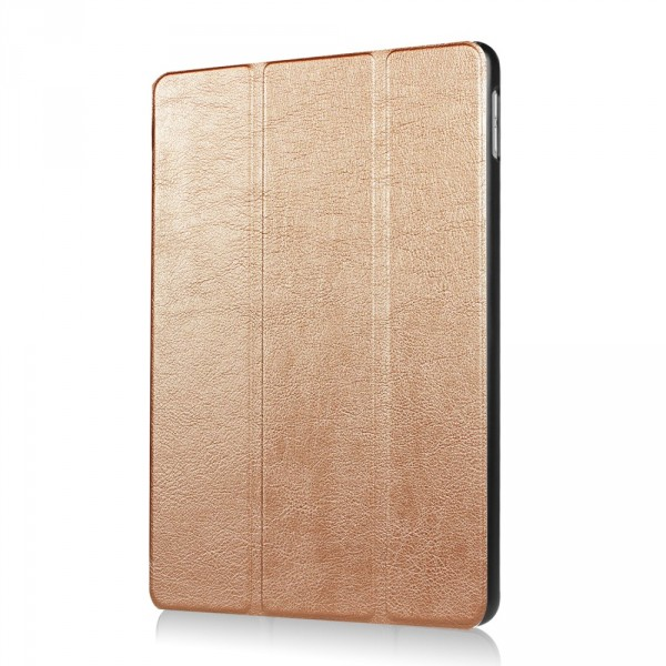 iPad 9.7 2017 - Tri-fold Smart Leder Case goldig