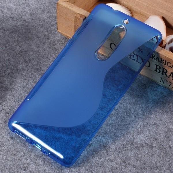 Nokia 5 - S-Line Silikon Gummi Hülle Case blau