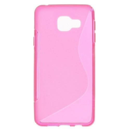 Galaxy A3 2017 - Silikon Gummi Hüllen Case S-Line pink