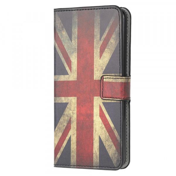 Galaxy S20+ Plus - Leder Hülle Kartenfach UK Flagge
