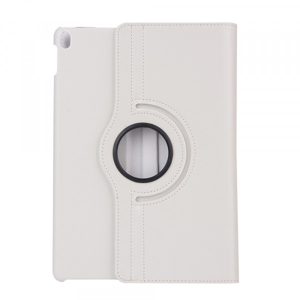 iPad 10.2 - Leder Etui Tasche 360° drehbar weiss