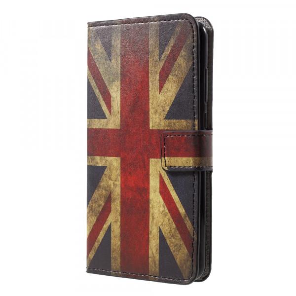 Huawei P20 - Leder Hülle Kartenfach Etui Retro UK Flagge