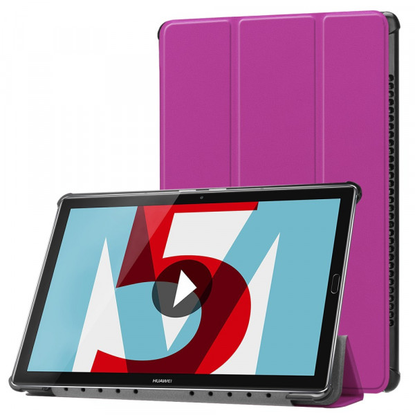 MediaPad M5 10.8 - Tri-fold Smart Leder Tasche Hülle violett