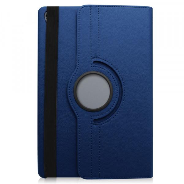 MediaPad M6 10.8 -  Leder Etui Tasche 360° drehbar dunkelblau