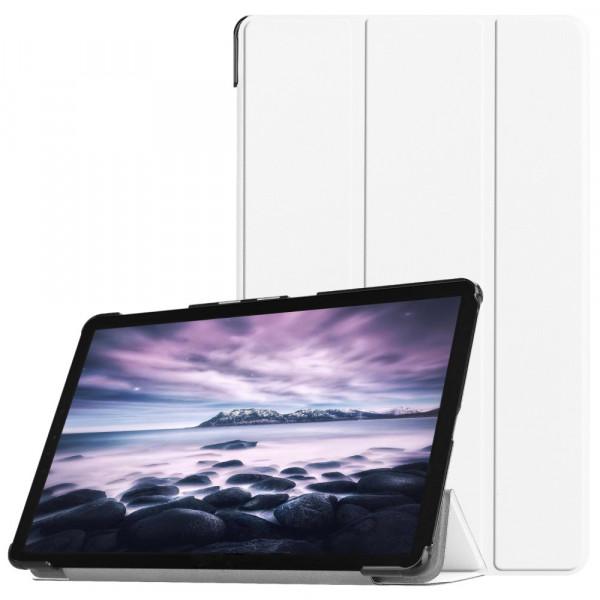 Galaxy Tab A 10.5 2018 - Tri-fold Smart Leder Case weiss
