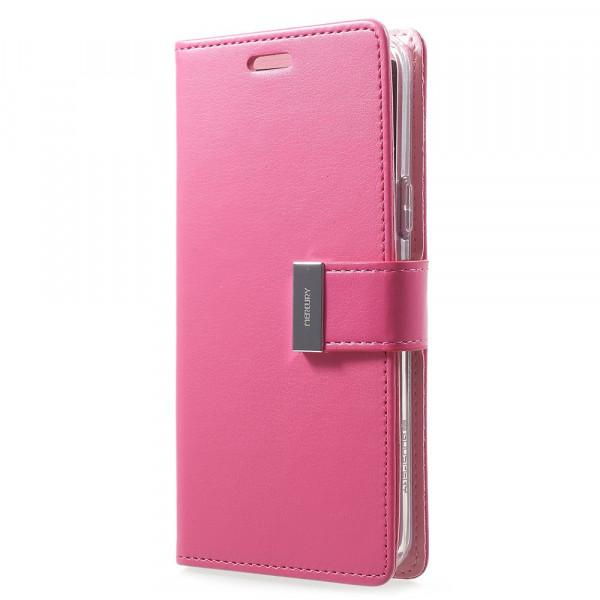 Galaxy S9 - Mercury Rich Diary Leder Etui Brieftasche pink