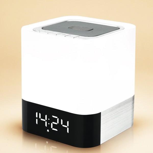 MUSKY Bluetooth Lautsprecher und Wecker mit LED