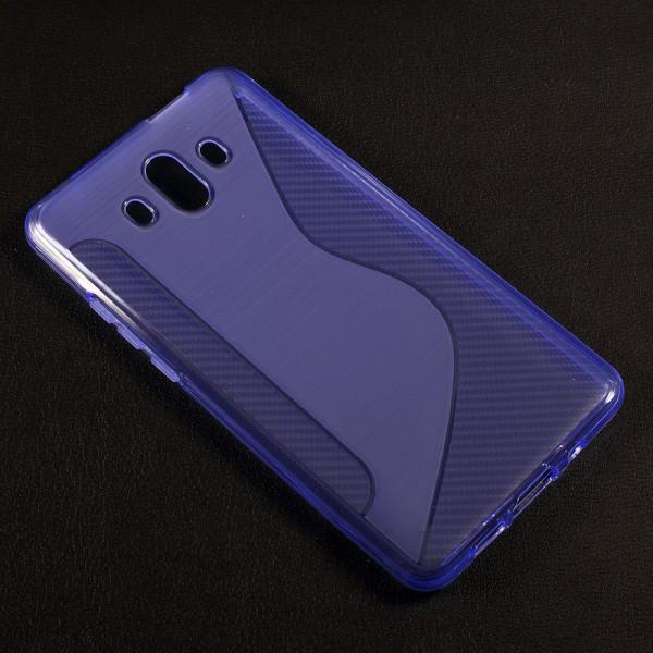Huawei Mate 10 - S-Line Silikon Gummi Hülle Case violett