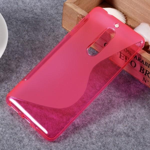 Nokia 5 - S-Line Silikon Gummi Hülle Case pink
