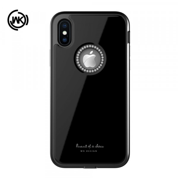 iPhone Xs / X - WK Ginstone Series Strass Glitzer schwarz