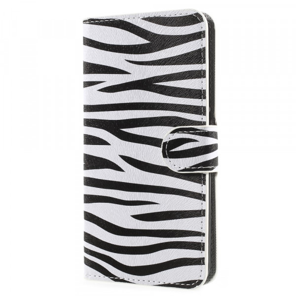 Huawei Mate 10 - Leder Hülle Kartenfach Etui Zebra