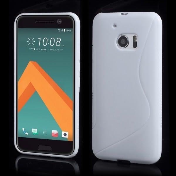 HTC 10 - S-Line Silikon Gummi Hülle Case weiss