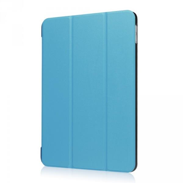 iPad 9.7 2017 - Tri-fold Smart Leder Case hellblau