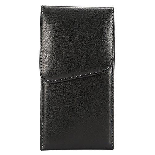 Universal - 360° drehbare Leder Gurttasche L vertikal schwarz