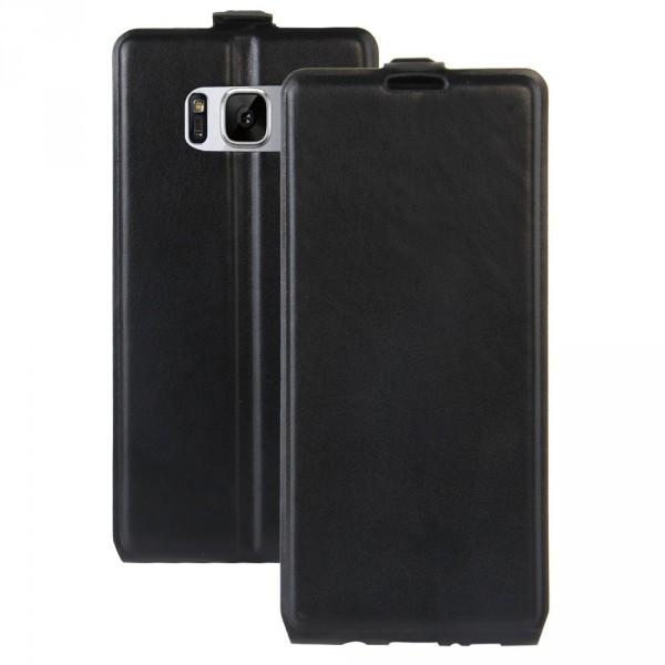 Galaxy S8+ PLUS- Leder Flip Case mit Fotofach vertikal schwarz