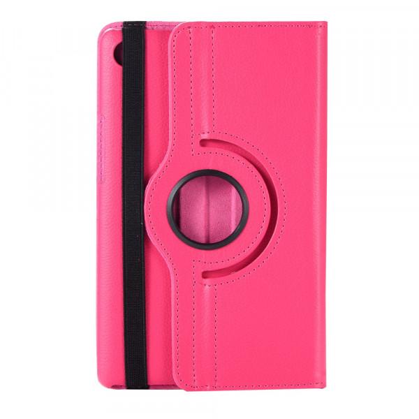 MediaPad M5 8.4 -  Leder Etui Tasche 360° drehbar pink